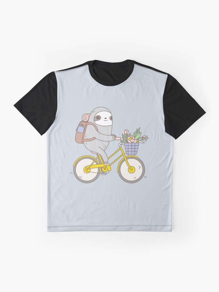 Alternate view of Biking Sloth  Graphic T-Shirt