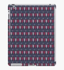 Blue Pink and Red Nordic Tree Stripes iPad Case/Skin