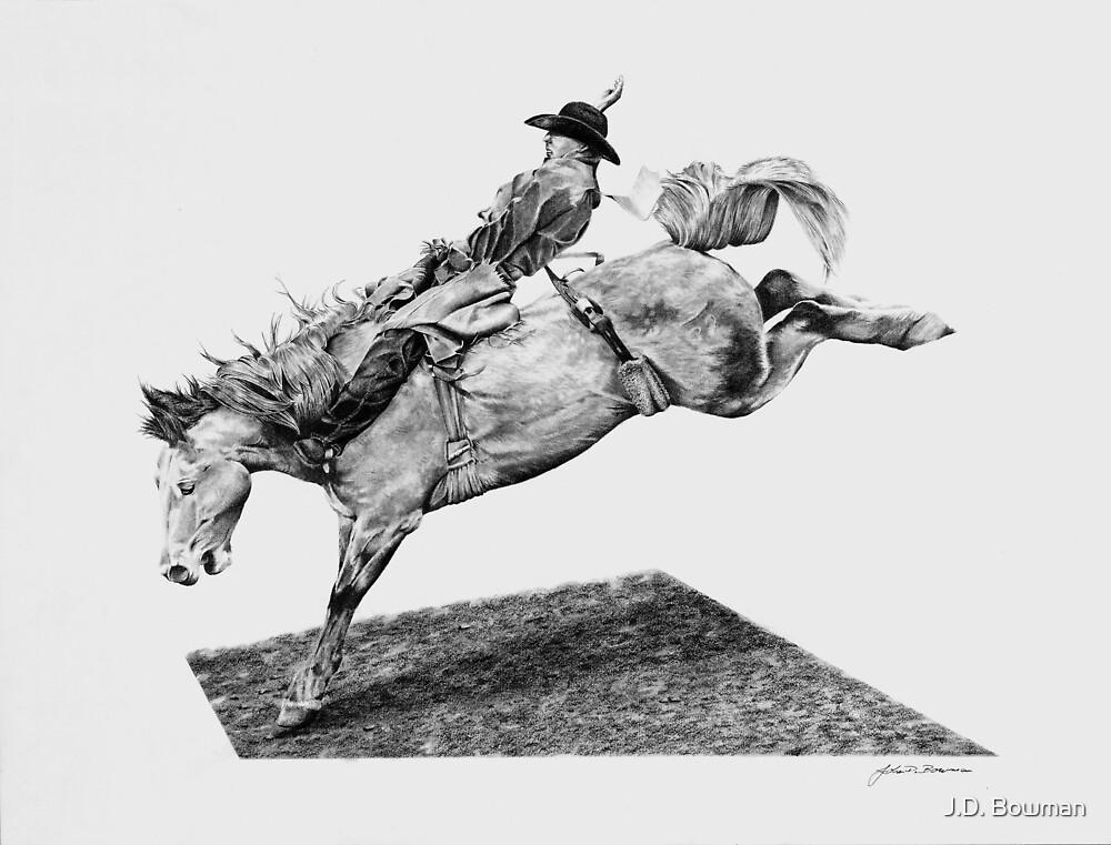 Rodeo Bareback Rider #2 by J.D. Bowman