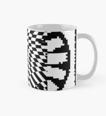 #white #black #abstract #pattern #3d #texture #checkered #illustration #arrow #design #cursor #isolated #flag #pixel #computer #icon #tile #square #symbol #graphic #mouse #concept #perspective Mug