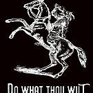 Do What Thou Wilt; Satanic Goat on Horseback by Nick Lewis
