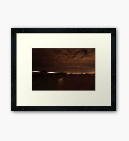 night crossing Framed Print