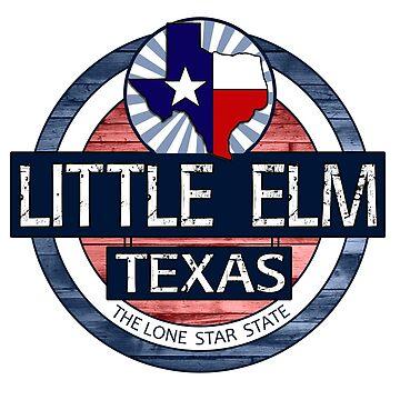 Little Elm Texas rustic wood circle by artisticattitud
