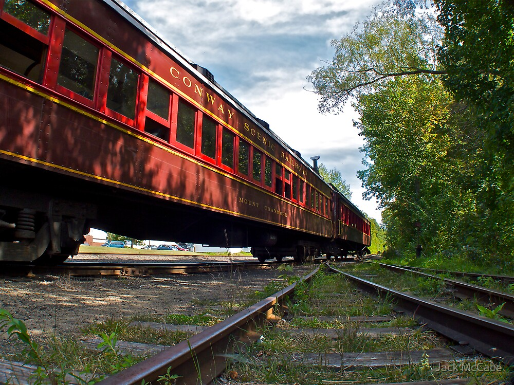 """The Siding Track At Bartlett"" - Conway Scenic RR Series - © 2009 featured by Jack McCabe"