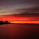 Fire over the Gulf by kathy s gillentine