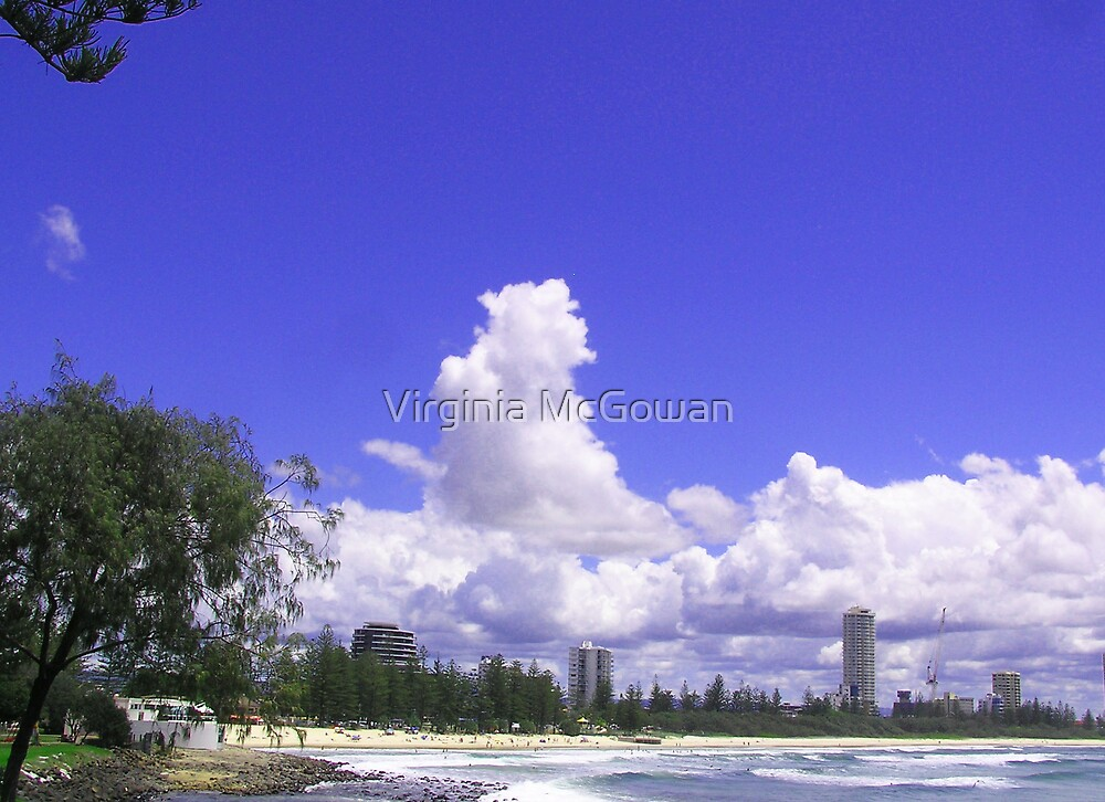 Burleigh Heads From the Headland by Virginia McGowan