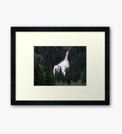 Falls in the Forest Framed Print