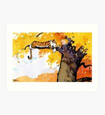 calvin n hobbes sleep Art Print