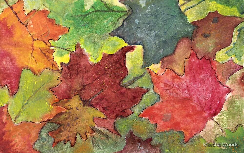 Fallen Leaves I by Marsha Woods