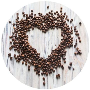Coffee Bean Heart  by TeeVision