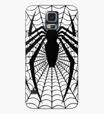 Black spider on web Case/Skin for Samsung Galaxy