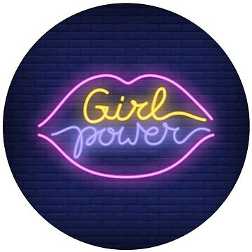 Girl Power Lips Neon Sign by TeeVision