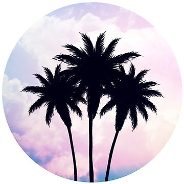 Sunset Palm Tree by TeeVision