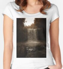 Autumn Fall Women's Fitted Scoop T-Shirt