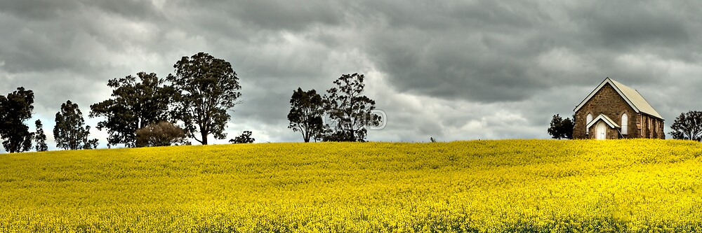 Wallendbeen Church Pano by GailD