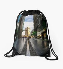 View of Tower Bridge as seen from More London - square photo Drawstring Bag