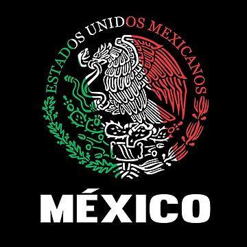 Bandera de Mexico Sticker Escudo Mexicano by Tetete