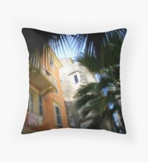 Back streets of old Corfu town. Greece Throw Pillow