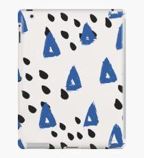 Blue & Black Abstract iPad Case/Skin