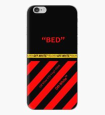 Off White Cover Bed Full Black and Red Stripes iPhone Case