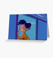 Rolf Stares Out A Window Greeting Card