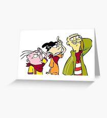 Ed Edd and Eddy Greeting Card