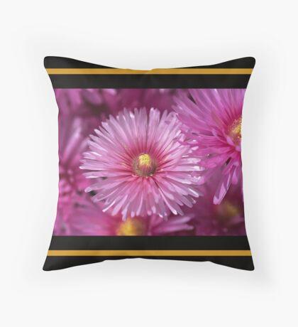 Pink Pigface Flowers Floor Pillow