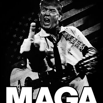 Johnny Trump Flipping the MAGA Sign by myronmhouse