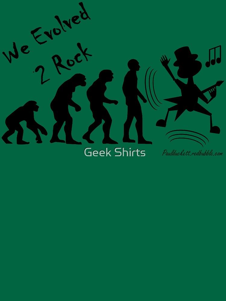 We Evolved 2 Rock - black text by PaulDuckett