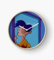 Rolf Stares Out A Window Clock