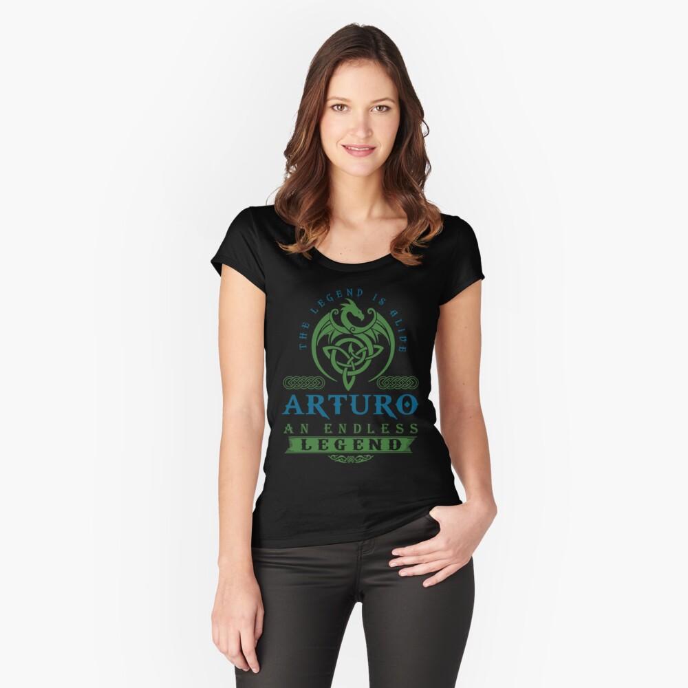 Legend T-shirt - Legend Shirt - Legend Tee - ARTURO An Endless Legend Fitted Scoop T-Shirt