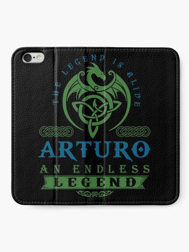 Alternate view of Legend T-shirt - Legend Shirt - Legend Tee - ARTURO An Endless Legend iPhone Wallet