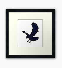 Hand drawn Eagle Framed Print