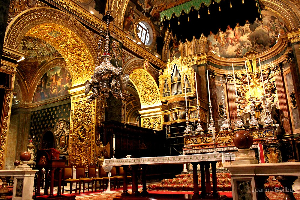 The Altar of St John, Valletta. by Joanna Beilby