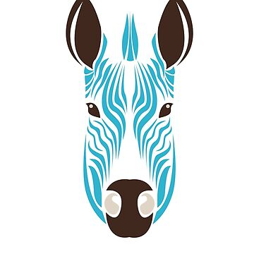 Zebra Abstract Colorful Art Animal Africa by MyShirt24