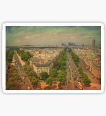 Champs Elysees, Paris Sticker