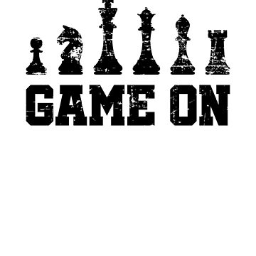 VIntage Chess Design - Game On - with Chess pieces by EstelleStar