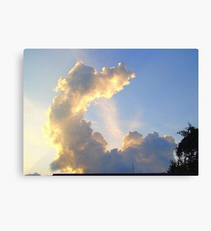 Odd Shaped Cloud Canvas Print