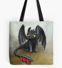 Toothless Dragon inspired from How To train Your Dragon. Tote Bag