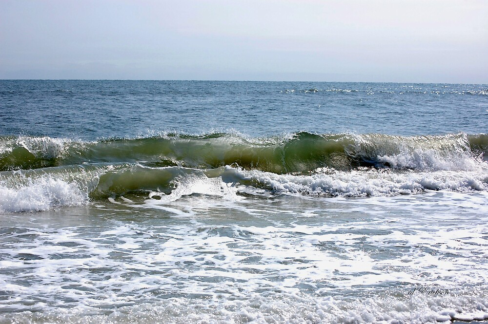 The waves at Jacksonville Beach by rd Erickson
