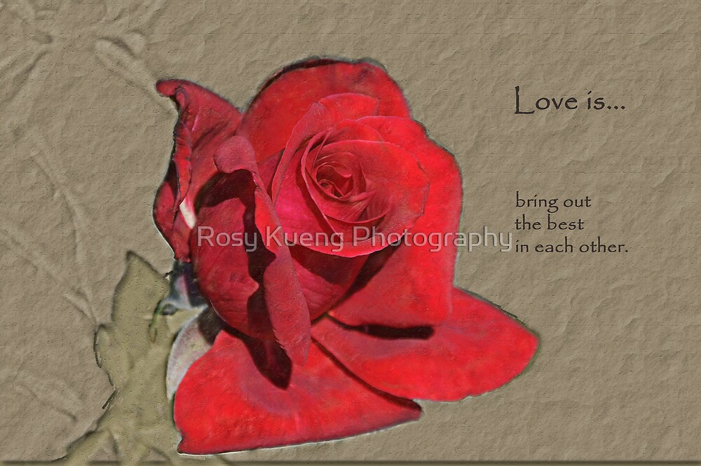 Love is... by Rosy Kueng Photography