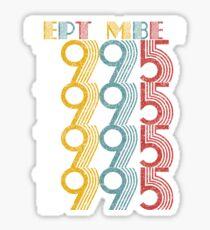 Vintage September 1995 Birthday Gifts  Sticker