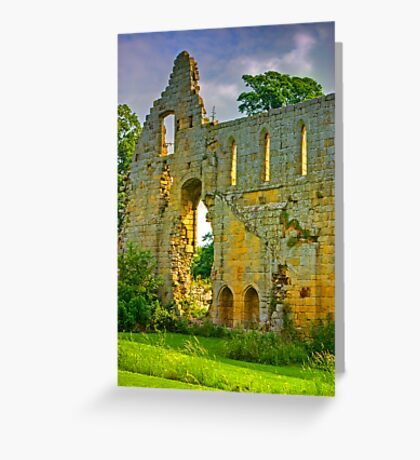 Jervaulx Abbey Ruins Greeting Card