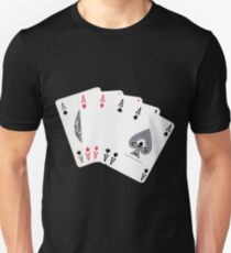 Five aces poker hand Unisex T-Shirt