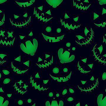 Pumpkin background Halloween seamless pattern  by Darcraft28