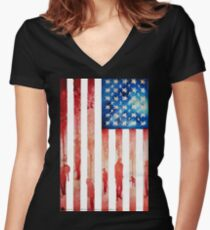 New Age of Slavery Women's Fitted V-Neck T-Shirt