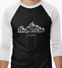 Cincinnati graphic scribble skyline  Men's Baseball ¾ T-Shirt