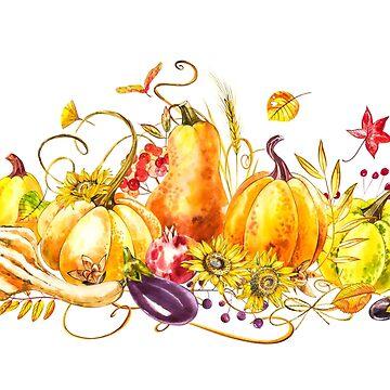 Happy Thanksgiving Pumpkin by Asetrova
