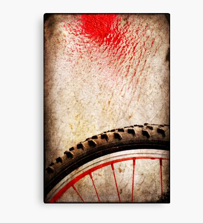 Bike wheel :: Red spray Canvas Print