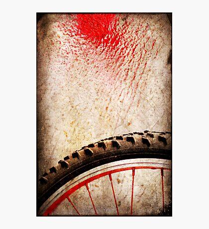 Bike wheel :: Red spray Photographic Print